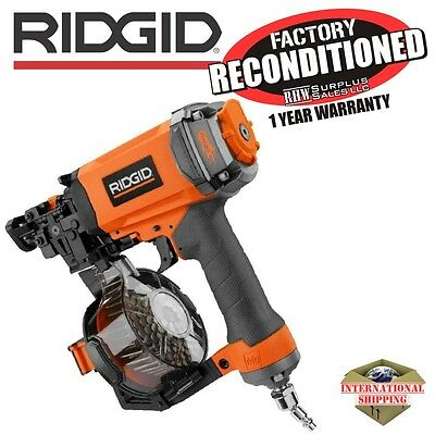 Ridgid R175RNE 1-3/4 in. Roofing Coil Nailer ZRR175RNE Reconditioned