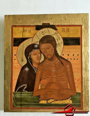 """""""Don't Cry For My, Mother"""". Russian Icon. Hand Painted Tempera On Wood"""