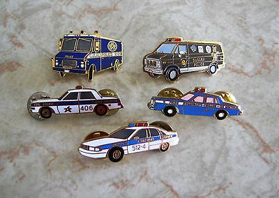 Police car pins Lachute Baie-Comeau Sussex CUM Montreal FREE SHIPPING