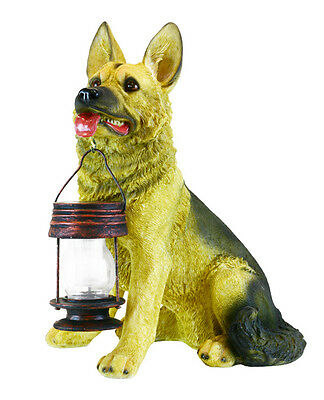 GERMAN SHEPHERD WITH Solar Lantern;Great decor and Light for Home ...