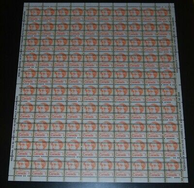 Weeda Canada 586xx VF mint NH full pane of 100, precancelled Caricature CV $30