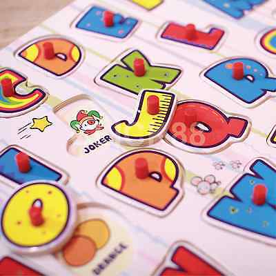 Childrens Puzzles Alphabet Puzzle ABC Letter123 Jigsaw Learning Educational wood