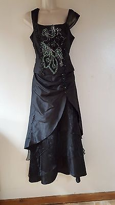 Cherlone Long Black Evening Gown ,wedding Bridesmaid Gothic Style