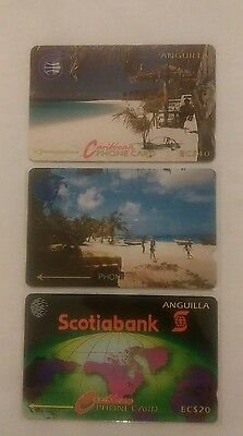 Rare Collectable Phonecards - Anguilla - Superb Items - Scotiabank