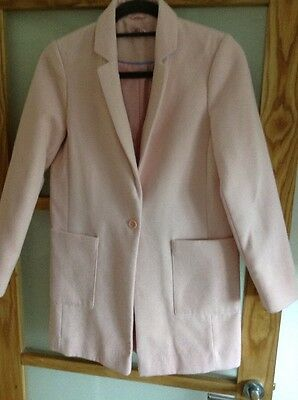 Girls Pink Coat Age 12/13 Primark
