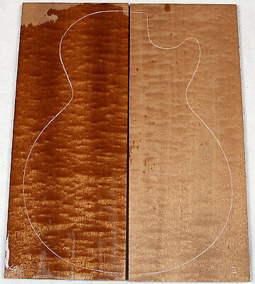 """Thick quilted sapele drop top / lam top for electric guitar 7.4x18.6x.4"""" st2"""