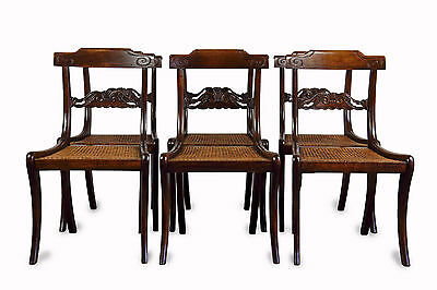 Set Of Six William Iv Simulated Rosewood Dining Chairs