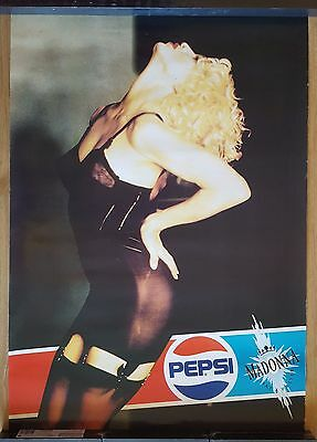 MADONNA **Like A Prayer Spain PEPSI Promo Poster** VERY RARE! BLOND AMBITION