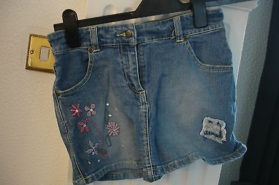 Girls Denim Skirt aged 11 years with embroidery