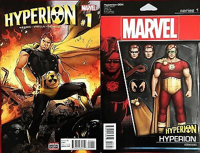 Hyperion #1 Regular & Action Figure Variant (2 Comics) Nm First Prints