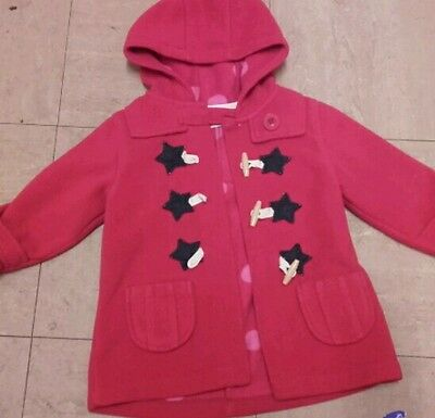 Girls Duffle Coat  Age 18 - 24 Mths  Red  Next
