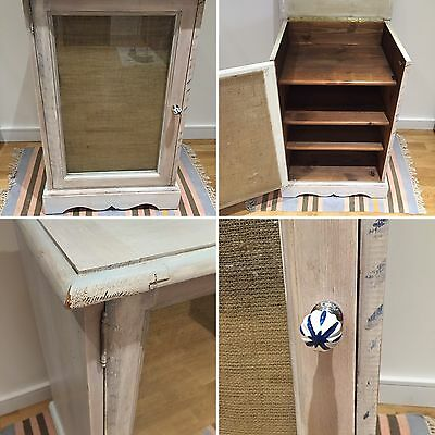 Shabby Chic Side Display Cabinet / Record Player Holder