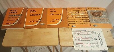 1966 Ford Preliminary Car Truck Bronco Shop Service Repair Manuals + Training ++