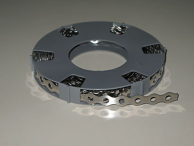 5 Rolls Stainless Steel Perforated Tape 17 mm/ Waveform