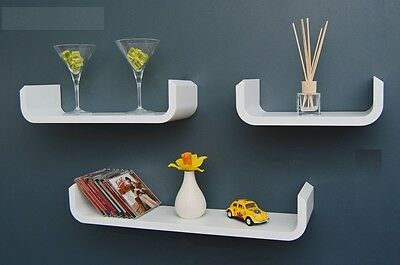 3pc Red Blue White Yellow Wall Mounted Shelves Child' Storage Display Book Shelf