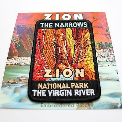 Official Zion National Park Souvenir Patch - The Narrows The Virgin River Utah
