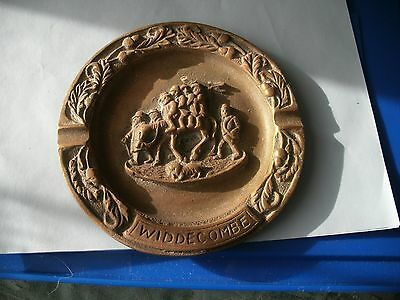 Vintage Ash Tray  Showing A Hunting Scene From Widdecombe