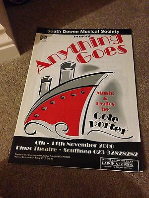 Anything Goes Programme The Kings Theatre Southsea