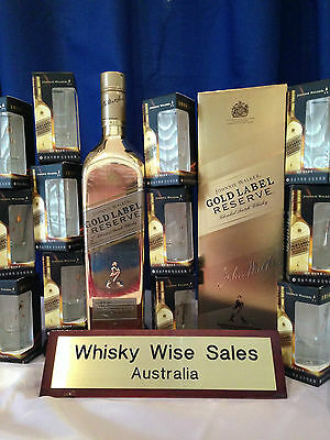 Johnnie Walker Gold Bullion Reserve Limited Edition with 12 Shot Glasses