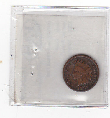 INDIAN HEAD penny 1897 NICE SMALL CENT 1897-P HARDER DATE