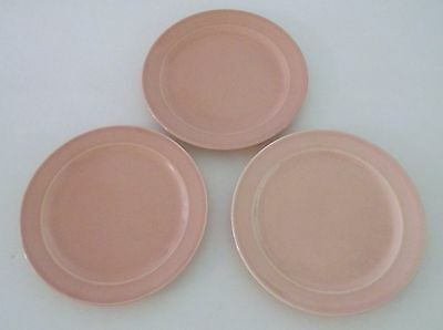 Vintage LuRay Bowl Bread & Butter Plates Pink (3)   6 3/8""