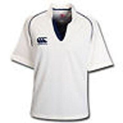 Canterbury Cream / Navy Pro Cricket Shirt - Size XL