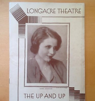 Vintage Playbill 1930 Longacre Theatre The Up And Up Mable Grainier