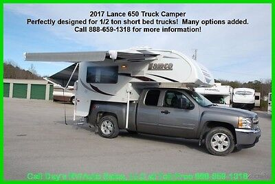 2017 Lance 650 Slide in truck Camper 1/2 ton Short Bed Pick Up RV Towable NEW RV
