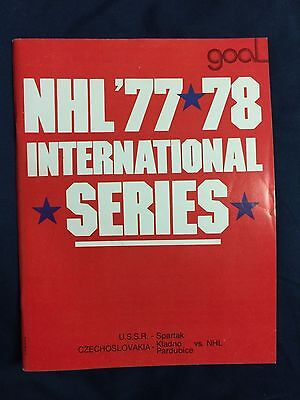 1977 NHL Program Philadelphia Flyers Pardubice Czechoslovakia International