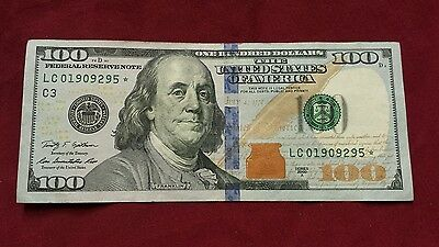 2009 series a $100 * note. # LC 01909295 good looking bill