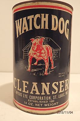 Rare Watch Dog Cleanser Tin, Full Un-Opened, Graphic Bull Dog, St. Louis Mo.