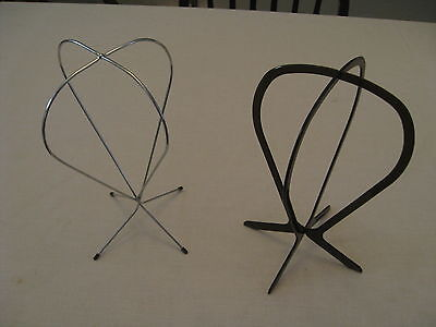 Wig Hat Wire Silver Stand Vanity Display with Plastic Stand Set Collapsible Used