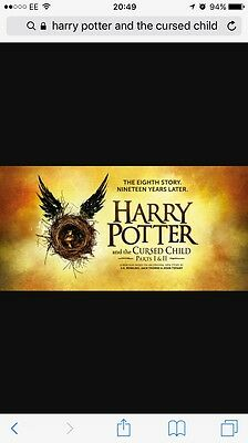 theatre tickets x2 Harry Potter and the cursed child