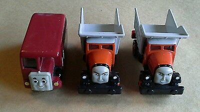 mattel thomas and friends take'n'play diecast toys, monty, mack, bertie the bus