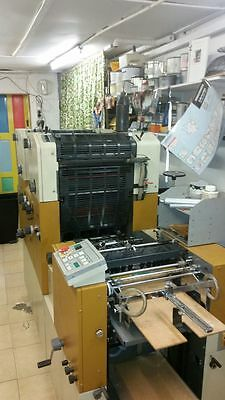 AB DICK 2 colour offset printing press with plate maker