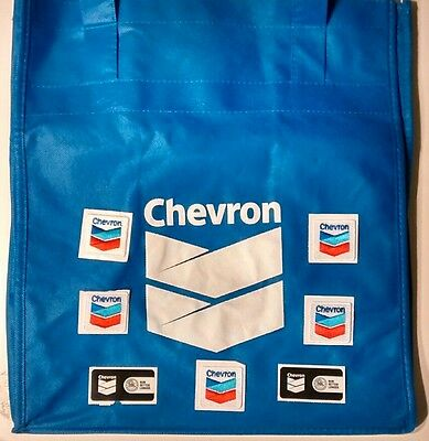 Chevron (oil, gas, motor, fuel) patches, stickers, tote bag