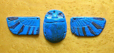 Humidor/Jewelry Box Inlaid with Ancient Egyptian Winged Scarab, Late Period