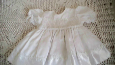 Baby Girls White Party/christening Dress Age 3 Months