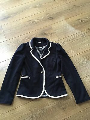 Girls Navy Jacket 7-8 Years