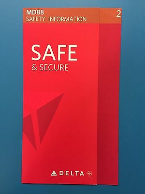Delta Airlines Safety Card--Md80 Latest Version