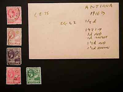 ANTIGUA stamps early 1900s ~~L@@K~~