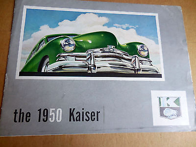 1950 Kaiser color brochure catalog