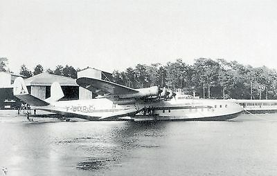 Air France - Latecoere 631 Flying Boat - Postcard View