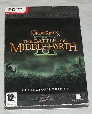 Lord the Rings Battle Middle-Earth II 2 Collector's Edition (One Disk Missing!)