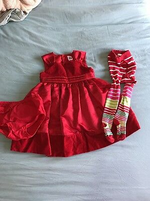 6a1233392024 BABY GIRLS SIZE 24 Months Carters Red Velvet Holiday Christmas ...