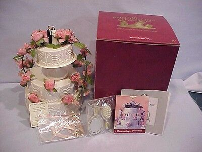 Wedding Cake Mib From Samantha American Girl Doll Collection