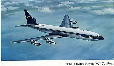 Boac - Boeing 707 - Airline Issued Postcard View 4