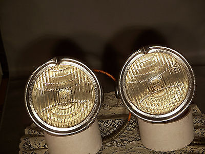 Vintage Pair C.M.Hall 6Volt Cowl Lights Chrysler,Caddilac,Ford,Chevy Or Rat Rod