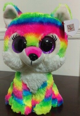 "Ty Beanie Boos River 8-9"" - Great Wolf Lodge Exclusive - New Rare - Rainbow"