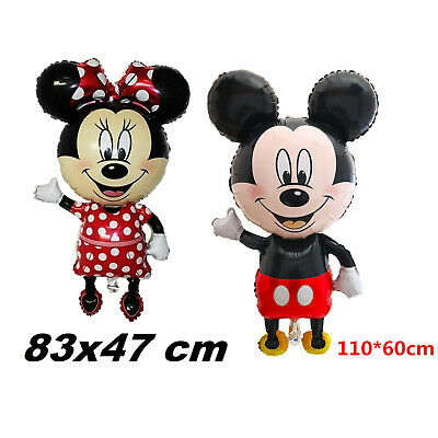 Mickey Minnie Mouse Theme Birthday Party 18``Foil Air or Helium Fill Balloon UK